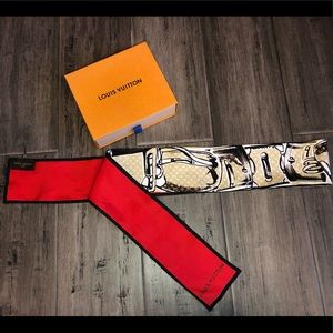 Louis Vuitton silk trunks & bags scarf /head wrap